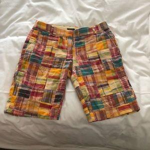 J.Crew Madras Bermuda Shorts